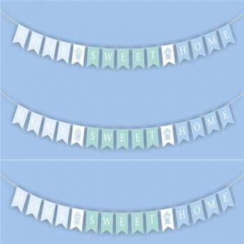 Home Sweet Home Wooden Bunting Garland