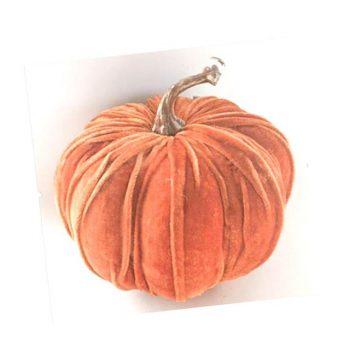 Giant Velvet Orange Pumpkin