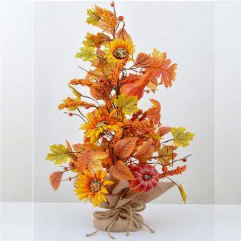 Artificial Sunflower and Pumpkin Tree