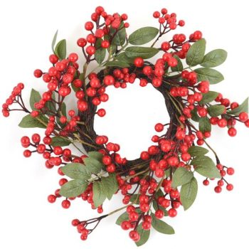 Artificial Festive Red Berry Wreath