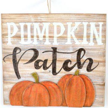 Autumn Halloween Pumpkin Patch Plaque Sign