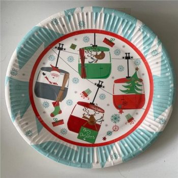 Festive Fun Christmas Scene Party Plates - Pack of 8