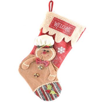 Christmas Gingerbread Man Luxury Stocking