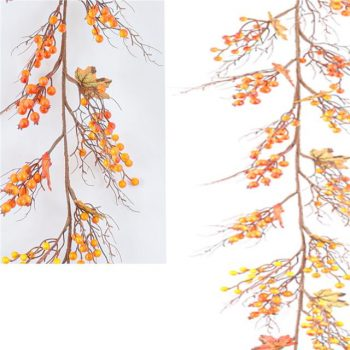 Artificial Autumn Orange Berry Garland