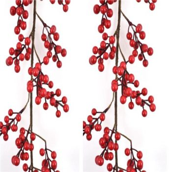 150cm Luxury Artificial Red Berry Cluster Garland