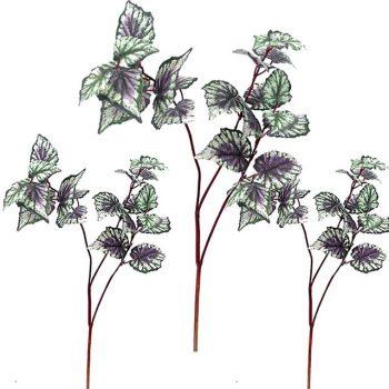 Artificial Begonia Leaf Spray