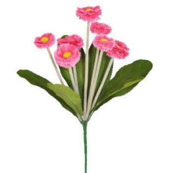 Artificial Pink Bellis Daisy Spray