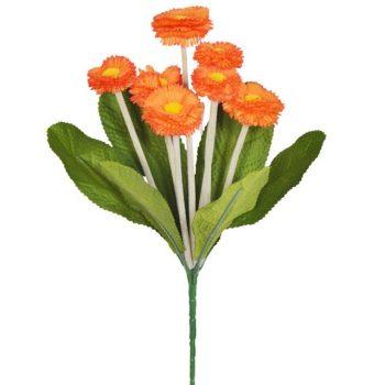 Artificial Orange Bellis Daisy Spray