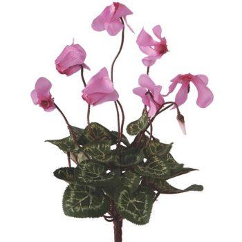 Artificial Pink Cyclamen Bush