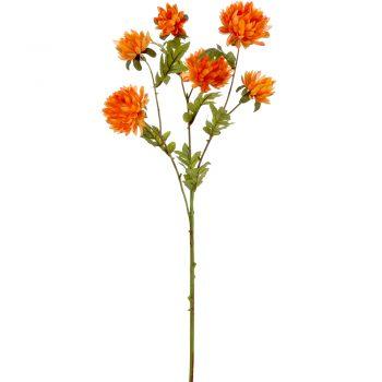 Artificial Wild Chrysanthemum Spray in orange