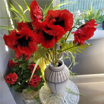 Pack of 3 Artificial Poppy Stems