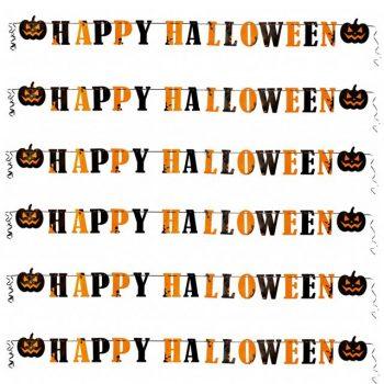 Happy Halloween Banner with Pumpkins