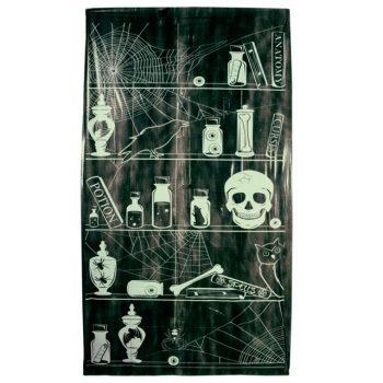 Glow in the Dark Skull in Cupboard Halloween Door Cover