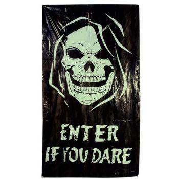 Skull Halloween Glow in the Dark Door Cover