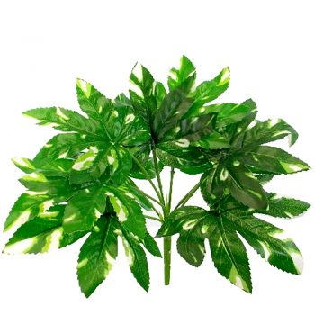 Artificial Green Maple Bush