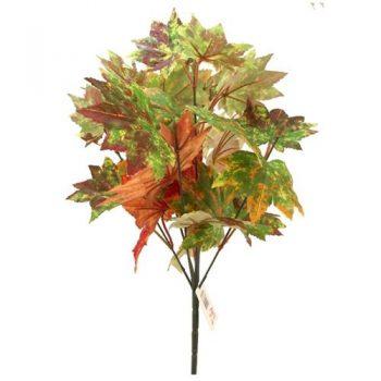 Artificial Autumn Maple Leaf Bush