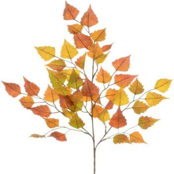Artificial Autumn Birch Spray