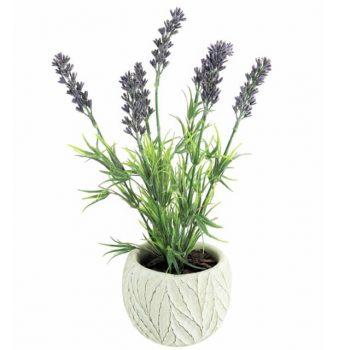 Artificial Potted Lavender Plant - 28cm