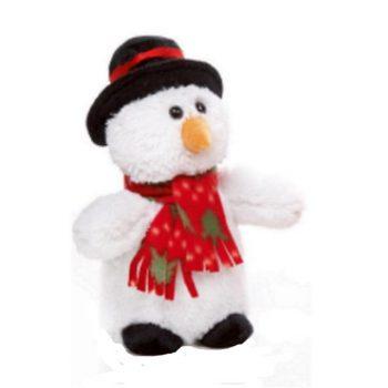 Plush Snowman Christmas Doorstop