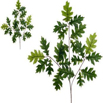 Artificial Green Oak Leaf Spray