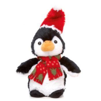 Plush Penguin Christmas Doorstop
