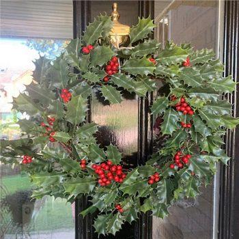 Artificial Holly Berry Christmas Wreath 61cm