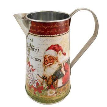 Metal Jug with handle & Merry Christmas Santa design.jpg