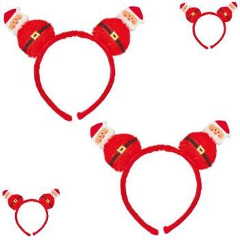 Pack of 2 Pom Pom Christmas Santa Headbands